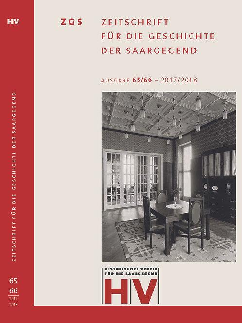 Zeitschrift für die Geschichte der Saargegend 65/66 (2017/2018)