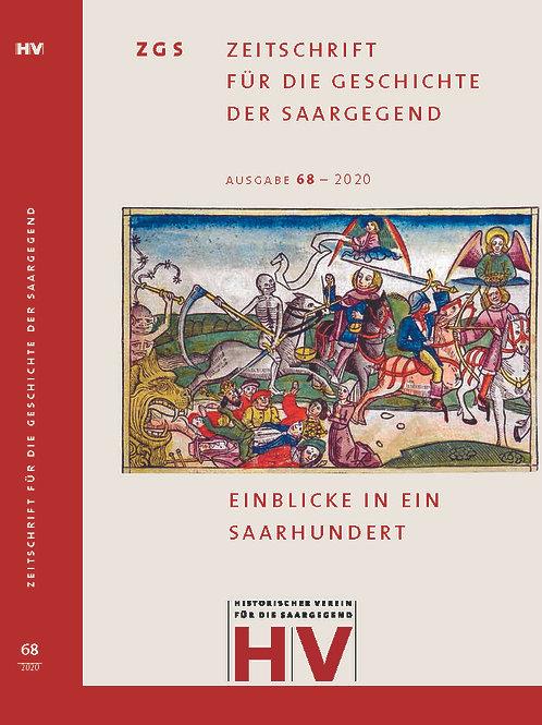Zeitschrift für die Geschichte der Saargegend 68 (2020)