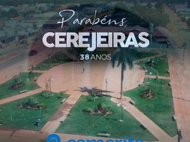 Cerejeiras, hoje (05) comemora 38 anos de emancipação política e administrativa.