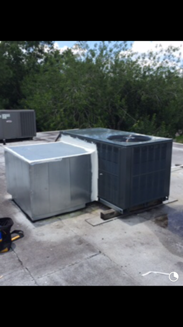 New Package Unit on Roof Installed