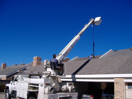 Crane Service to Hoist New Units up on Roof