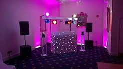 SMALL DISCO SETUP WITH LIGHTS AND SPEAKERS