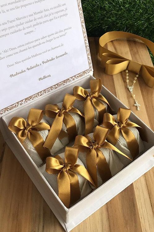 Caixa Padrinhos Luxo com 9 pães de mel