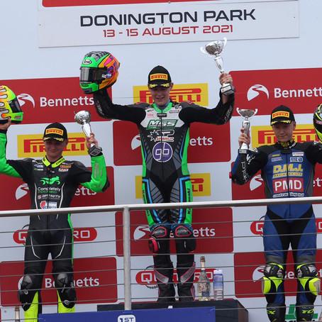 Lap record and podium finish for James McManus at Donington