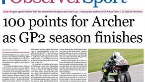 Archer signs off 2020 on back page of Observer