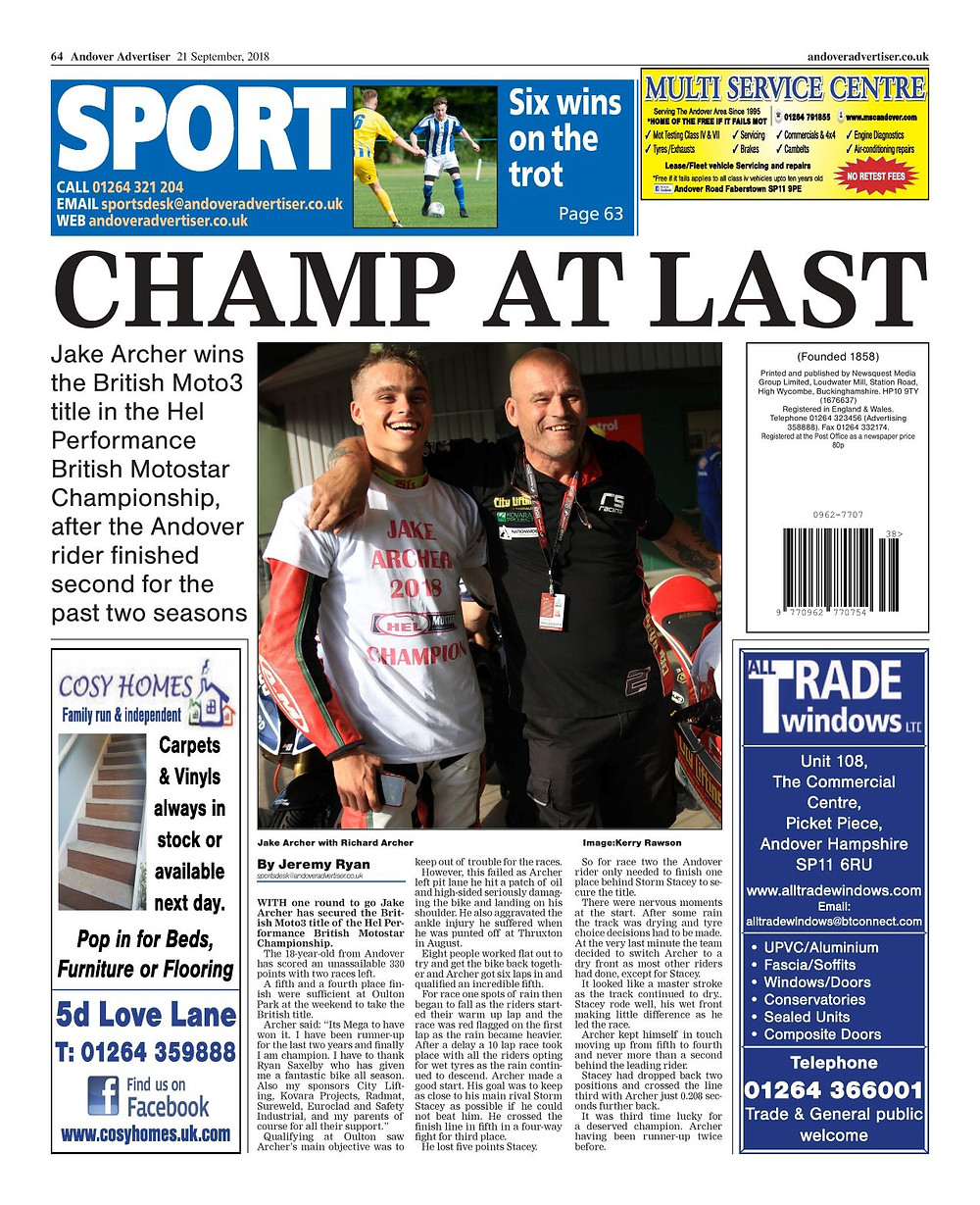 Andover Advertiser 21/09/2018