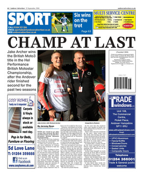 Advertiser recognises a champion