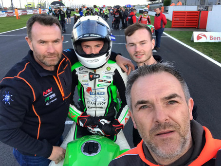 Superb display on Donington GP debut sees James McManus score his first championship points