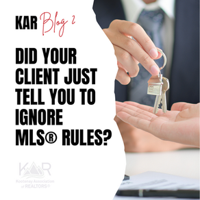 What if my client gives me direction that contradicts the MLS® Rules?