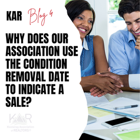 Why does KAR use the condition removal date to identify sales?