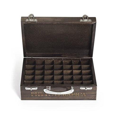 Caixa de Madeira Escura