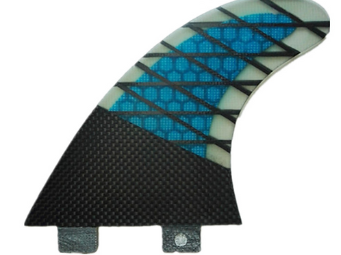 FCS BLUEVIBE REACTOR X PC CARBON TRI FINS