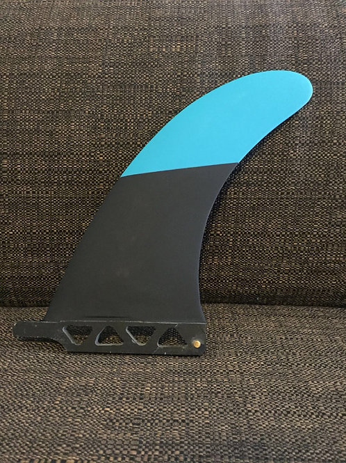 """SouthIslander Fins 8"""" black&blue performance glass PG Longboard fin Surf - New"""