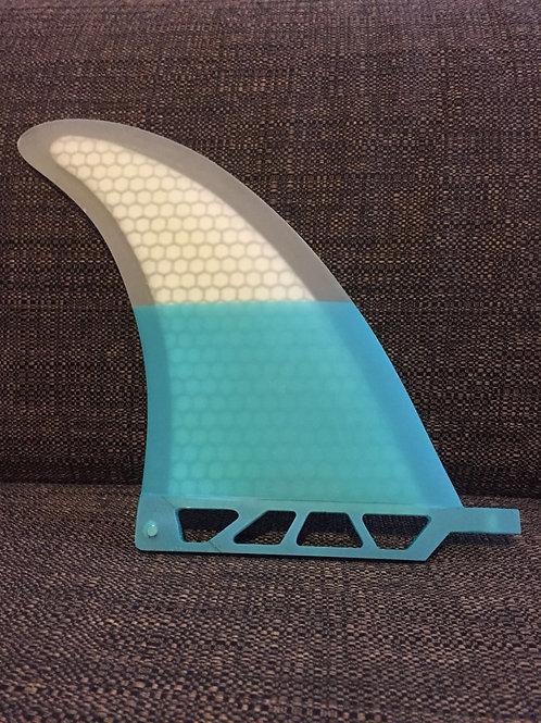 "SouthIslander Fins 8"" White&Blue Performance Core PC Longboard fin Surf - New"