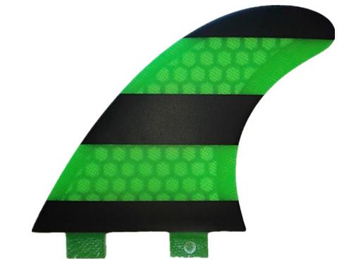 FCS V2 MODEL GREEN PC TRI FINS