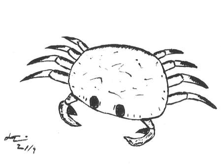 Inktober 2019: #10 (A Crab Without) Pattern