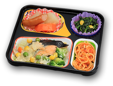 糖尿病向け低カロリーのお弁当 鮭と野菜