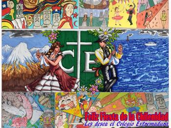 Mural de Cuartos Medios Artes: Fiesta de la Chilenidad en Pandemia