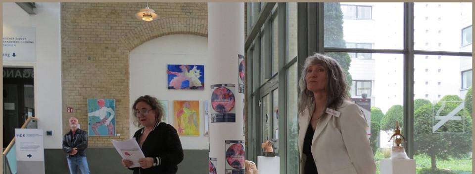 Astrid Brandt und Nina Grigoriev bei der Preisverleihung des Bruni- Frauenförderpreises 2019