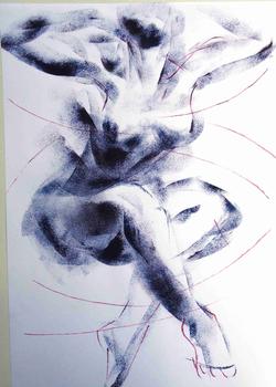 Acryl,-Papier,
