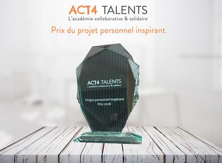 "Qui va remporter le prix du ""Projet personnel inspirant"" ?"