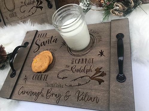 Christmas Eve Tray   Santa Tray   Letter to Santa   Cookies for Santa