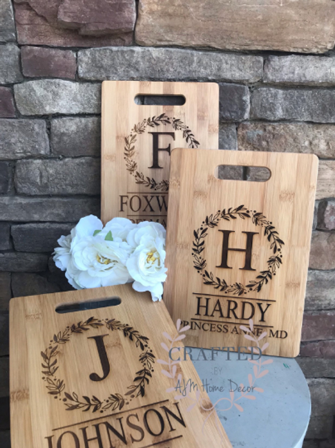 Engraved Cutting Board | Personalized Cutting Board | Hostess Gift