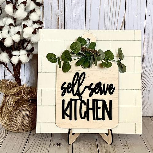 DIY Sign Kit - Kitchen sign kit - cutting board sign