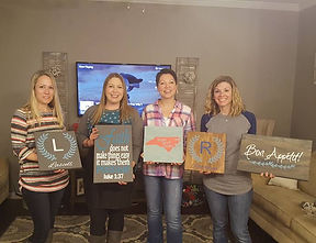 Painted Pallet Party, paint night, paint nite, wine and design, diy workshop girls night out, birthday party