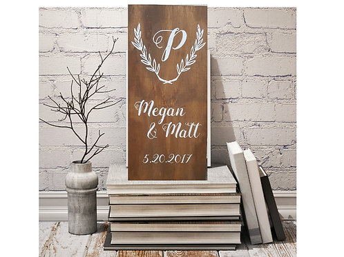 Personalized Wedding Sign 12x24
