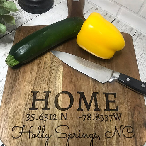 PERSONALIZED ENGRAVED CUTTING BOARD - Multiple Sizes