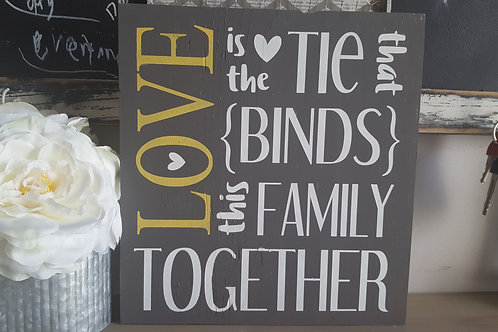 love is the tie that binds this family together -