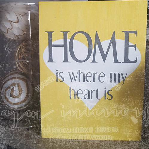 12x15 Home is where my heart is