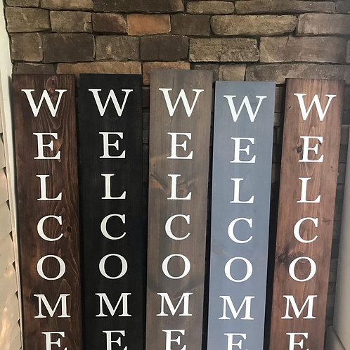 Interchangeable Welcome sign, Interchangeable front porch sign
