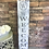 Thumbnail: Personalized Porch Sign with monogram, Tall personalized welcome si