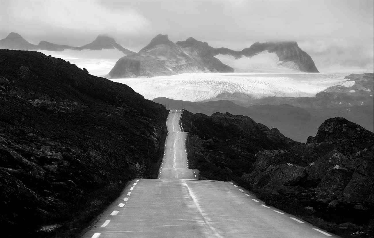Road and clacier Jotunheimen # 15