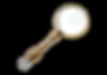 Vintage magnifying glass detective bough