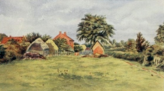 The Chappells' Farm. Drawn by Kate Greenaway as a young girl.