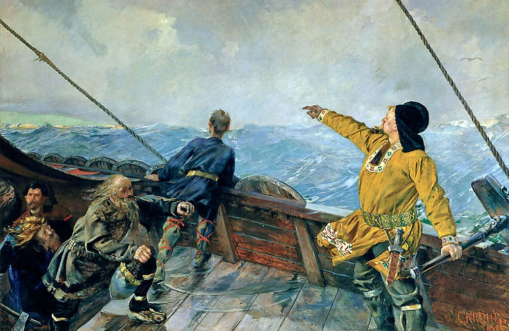 """Leiv Eiriksson Discovers America"" by Christian Krohg (1893)"