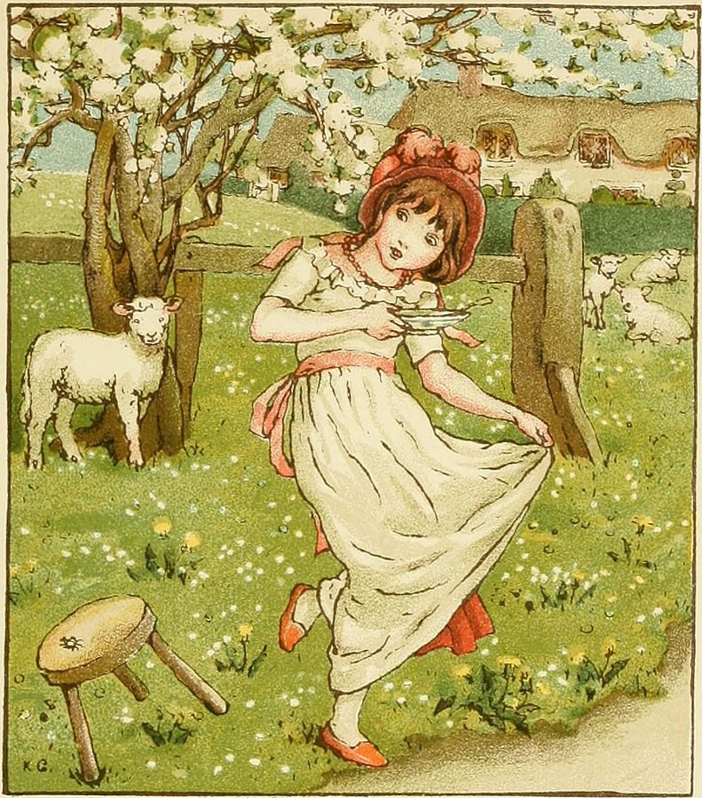 Little Miss Muffet by Kate Greenaway