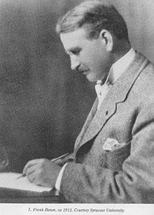 L. Frank Baum at his desk