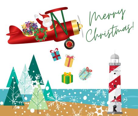 The Flying Lighthouse Santa