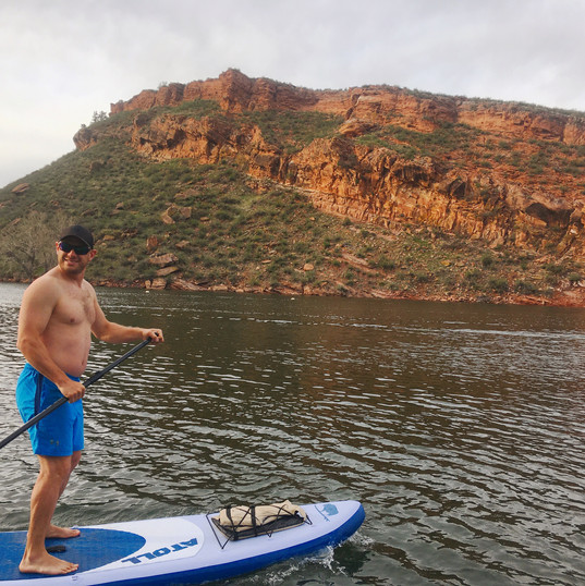 paddle on Horsetooth Reservoir