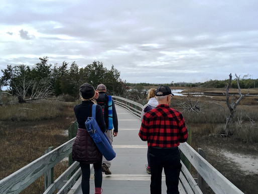 Yoga Hike at Cedar Point Tideland Trail