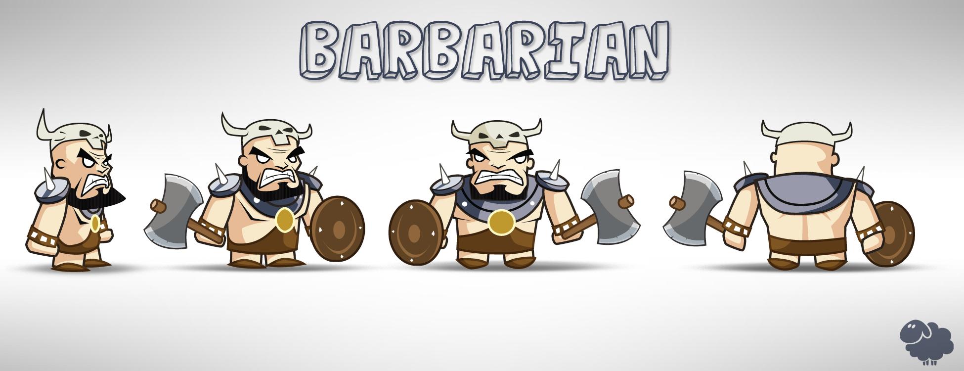 """Barbarian Model Sheet"""
