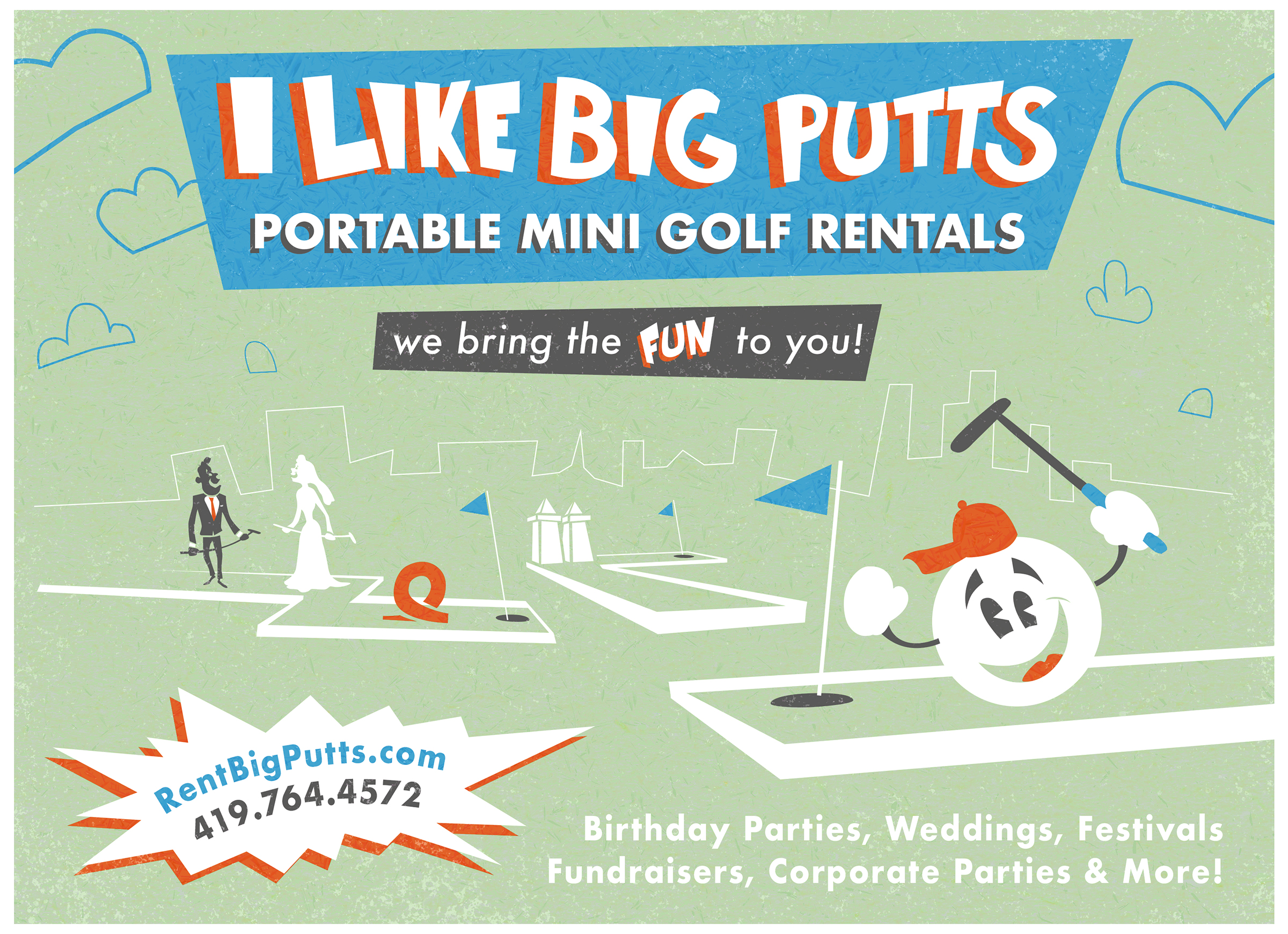 """Big Putts Advertisement"""