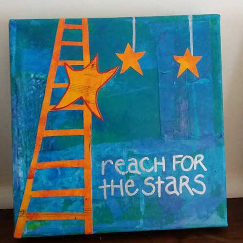 Reach for the stars (small canvas)