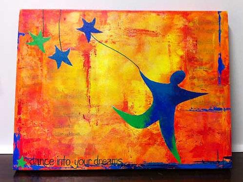 Dance into your dreams (medium canvas)