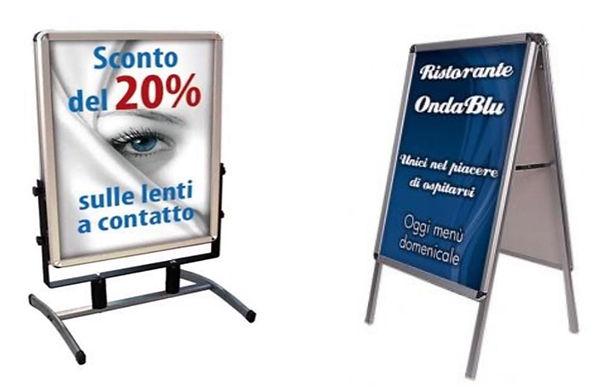 cartellone e cartelli stradali personalizzati stampa su allumino stampa cavalletti per menu ristoranti stampa professionale sottocosto manifesti inegne