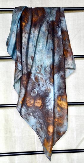 Forest Silk Scarf Colour Indigo